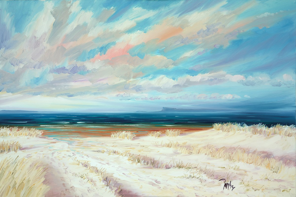 Summer Light Arisaig II by tom barron -  sized 36x24 inches. Available from Whitewall Galleries